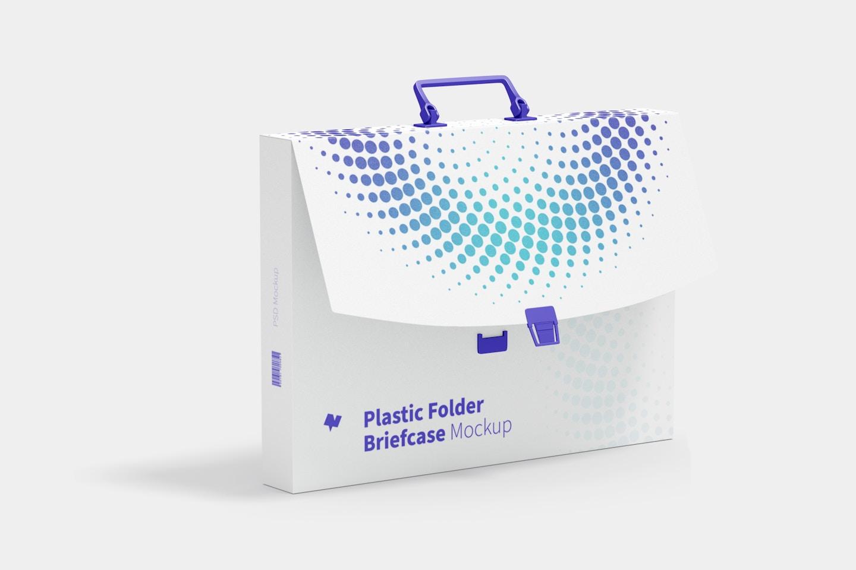 Plastic Folder Briefcase Mockup