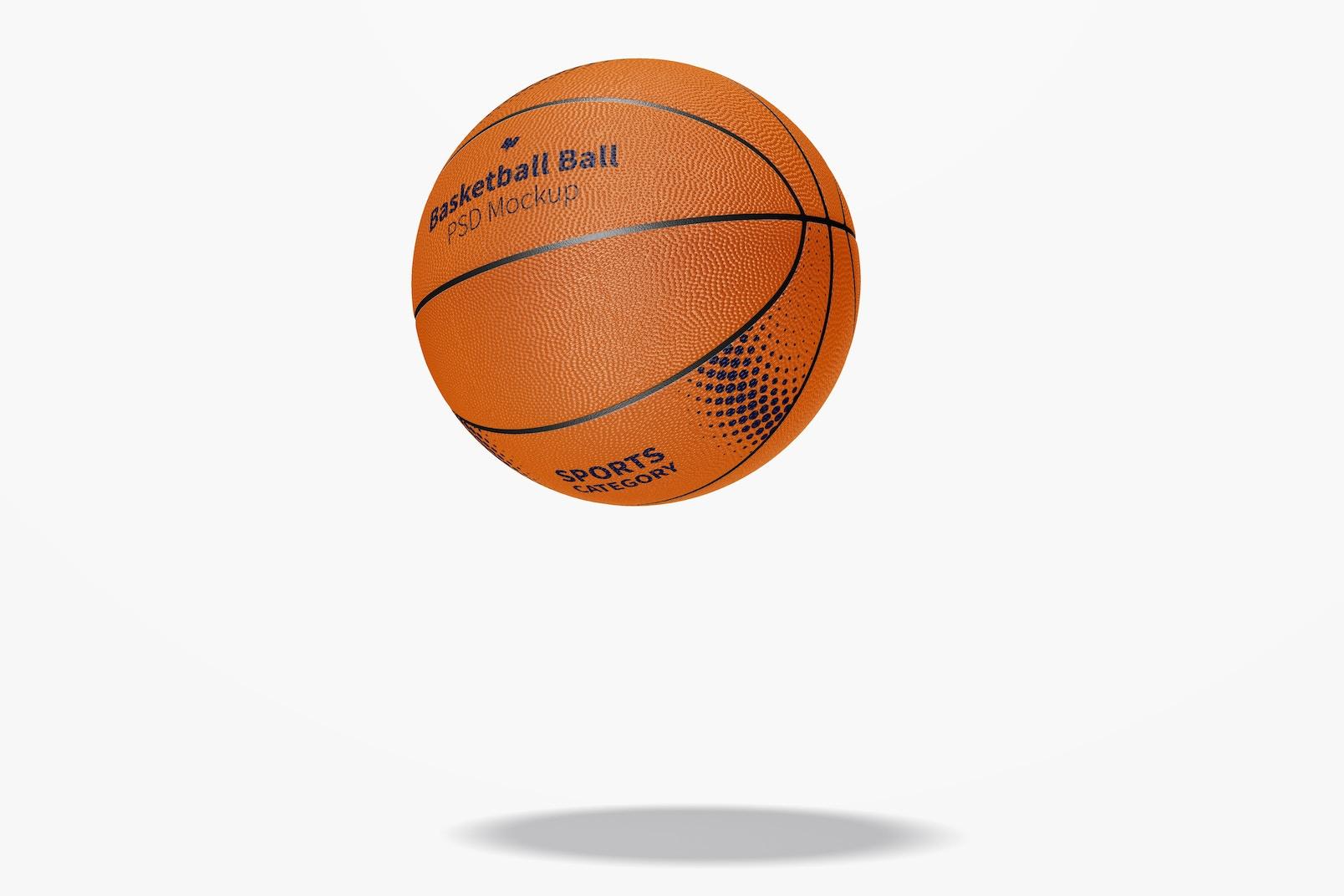 Basketball Ball Mockup, Falling