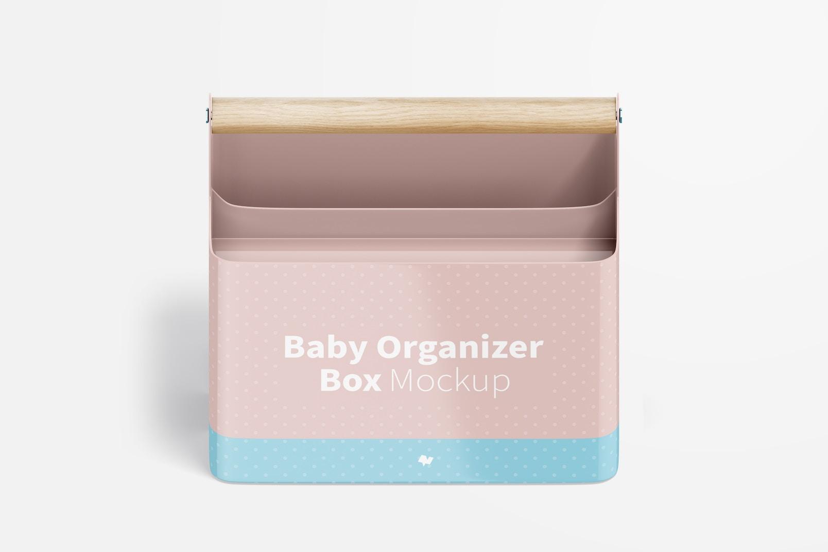 Baby Organizer Box Mockup, Isometric Front View