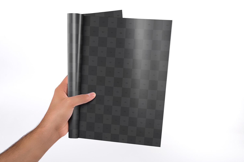 Letter Booklet Single Page Mockup