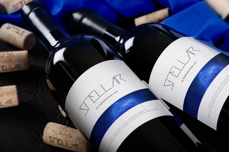 Wine Bottle Mockup 01
