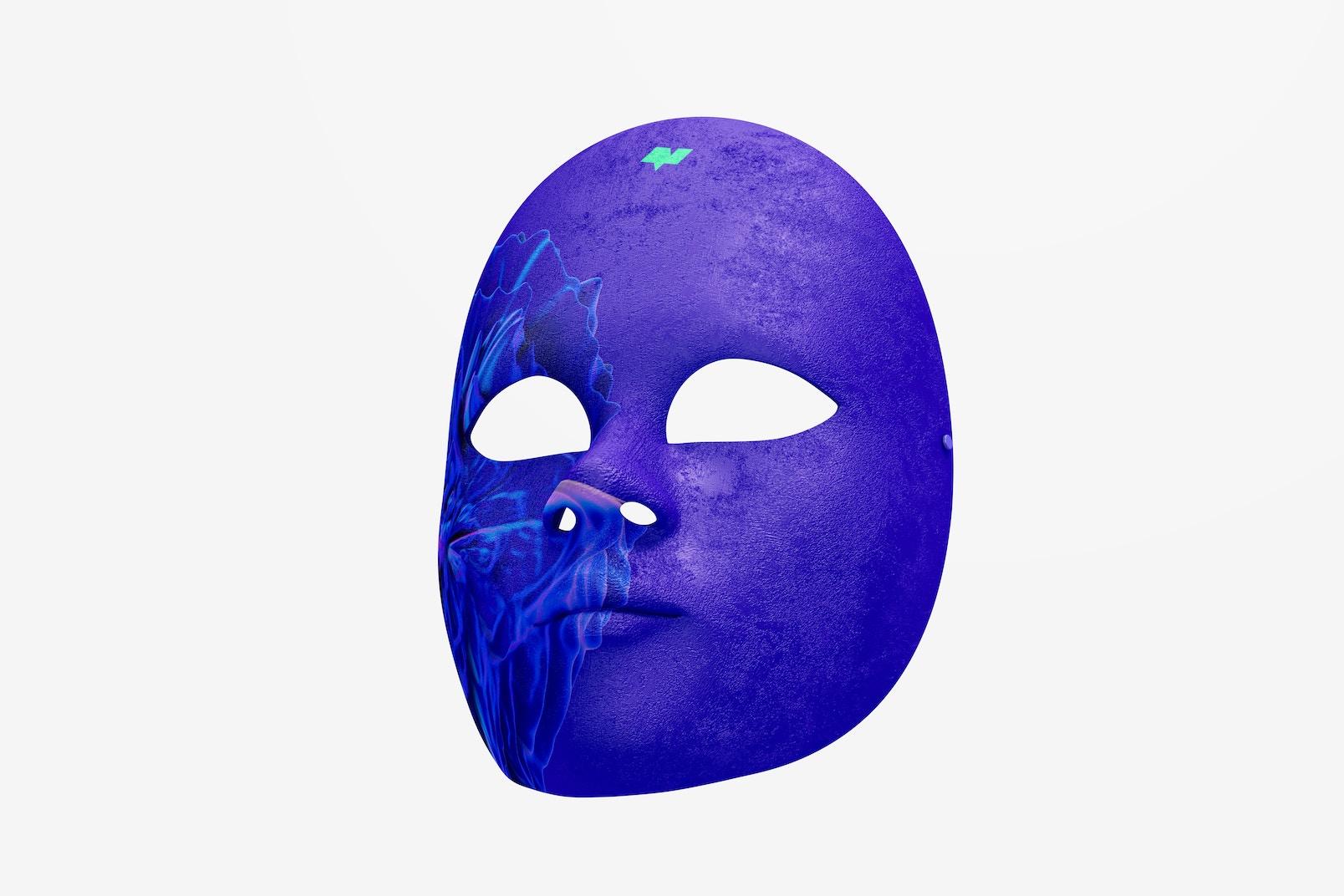 Plain Venetian Full-Face Mask Mockup
