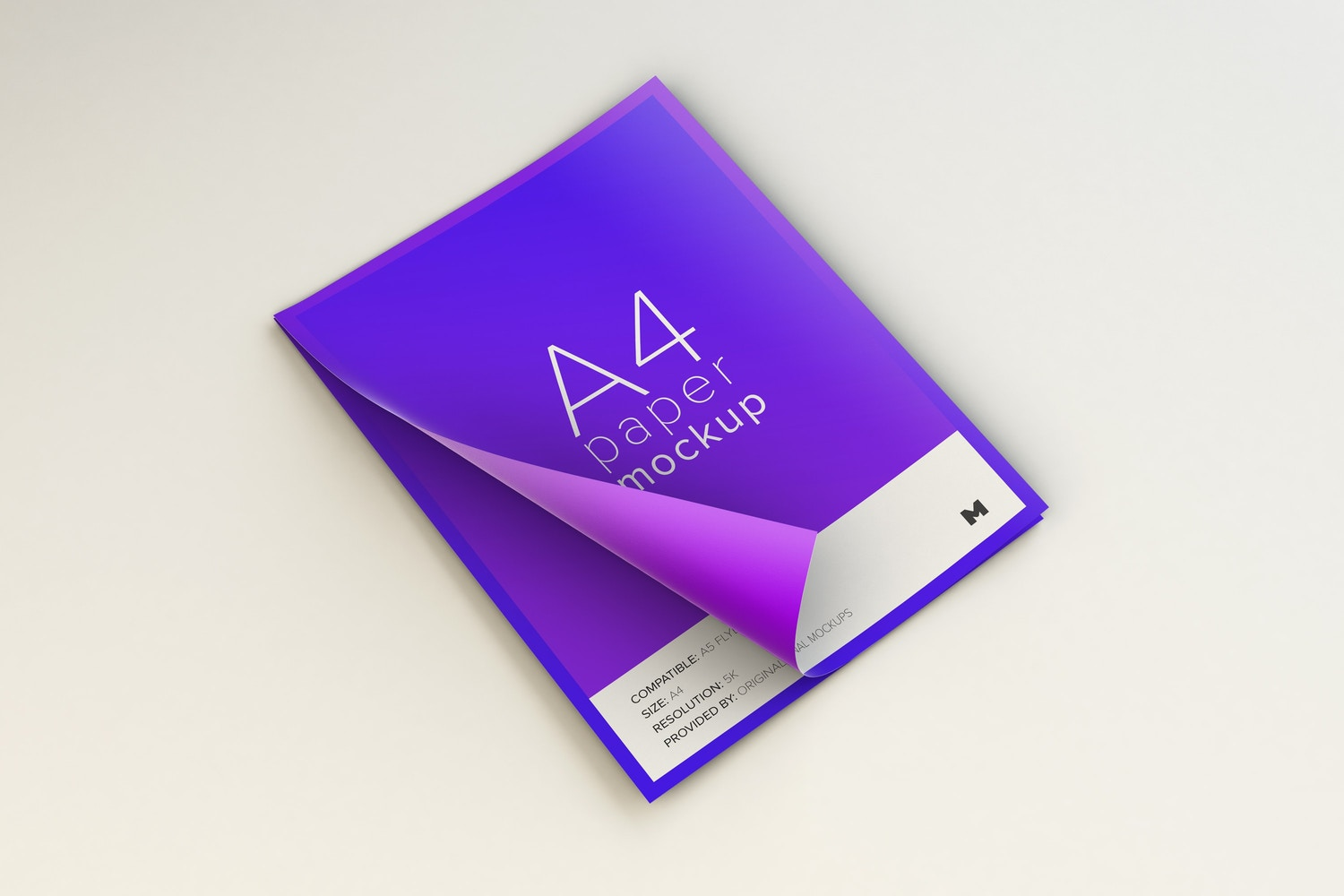 Flying A4 Paper Mockup 02