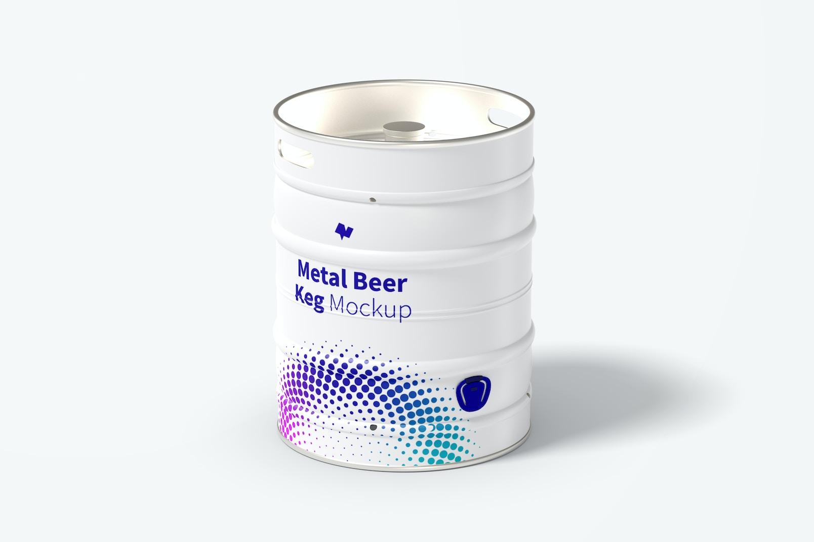 Metal Beer Keg Mockup