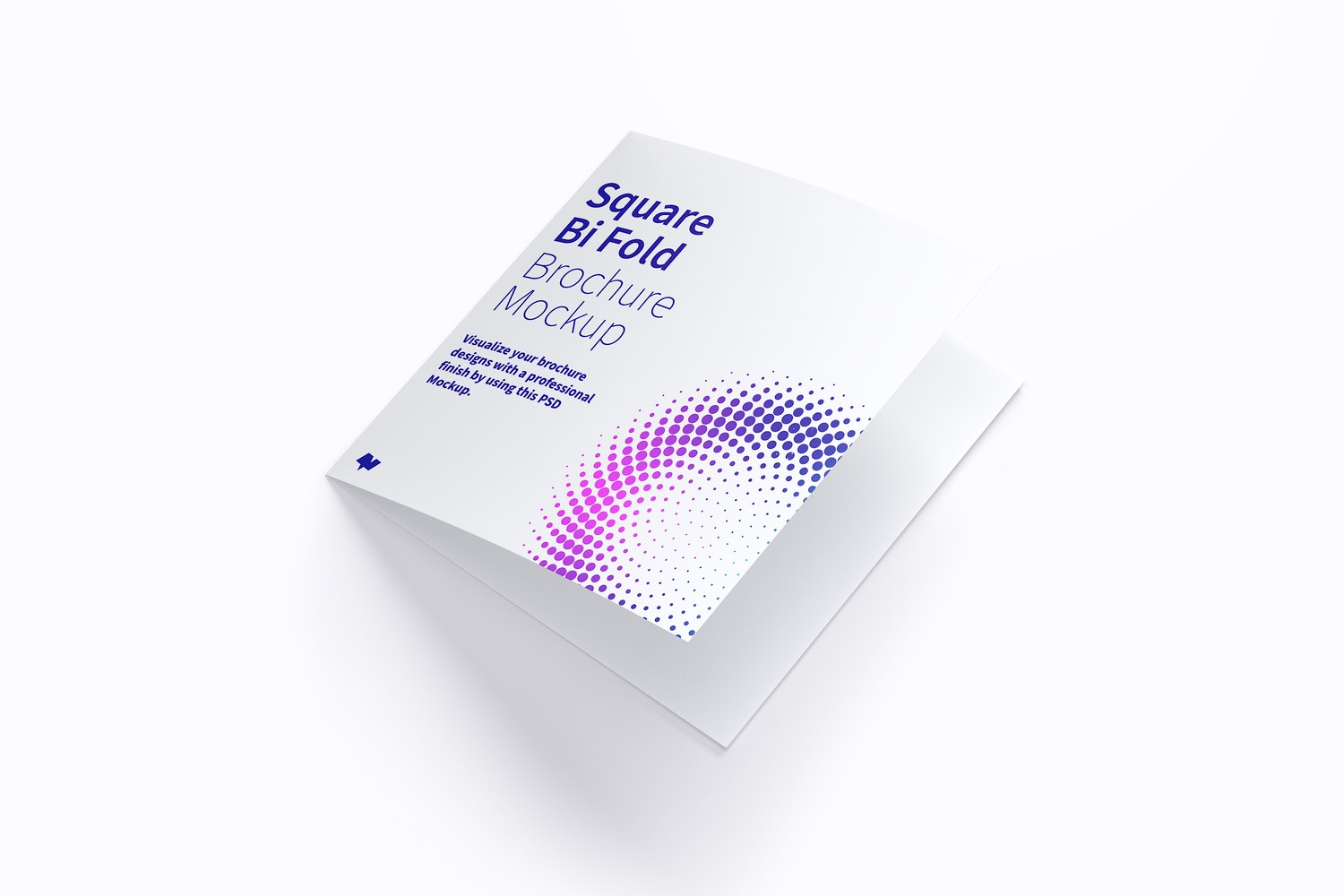 Square Bi Fold Brochure Mockup 01 by Original Mockups on Original Mockups