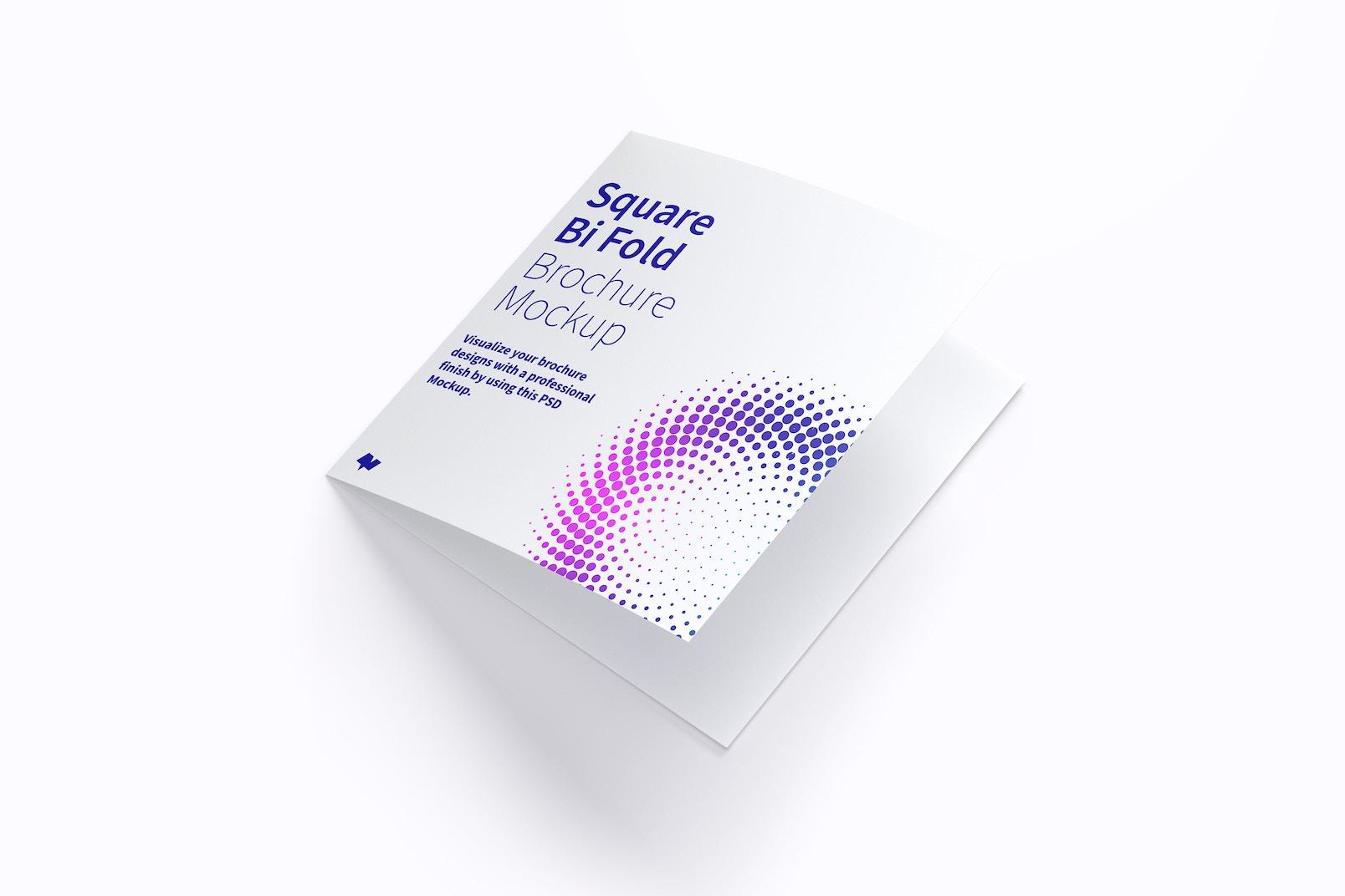 Square Bi Fold Brochure Mockup 01