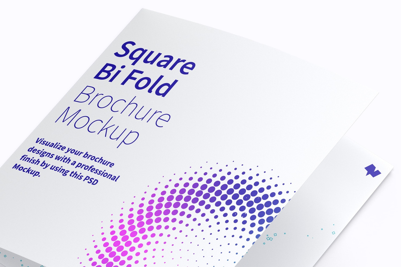 Square Bi Fold Brochure Mockup 01 (4) by Original Mockups on Original Mockups