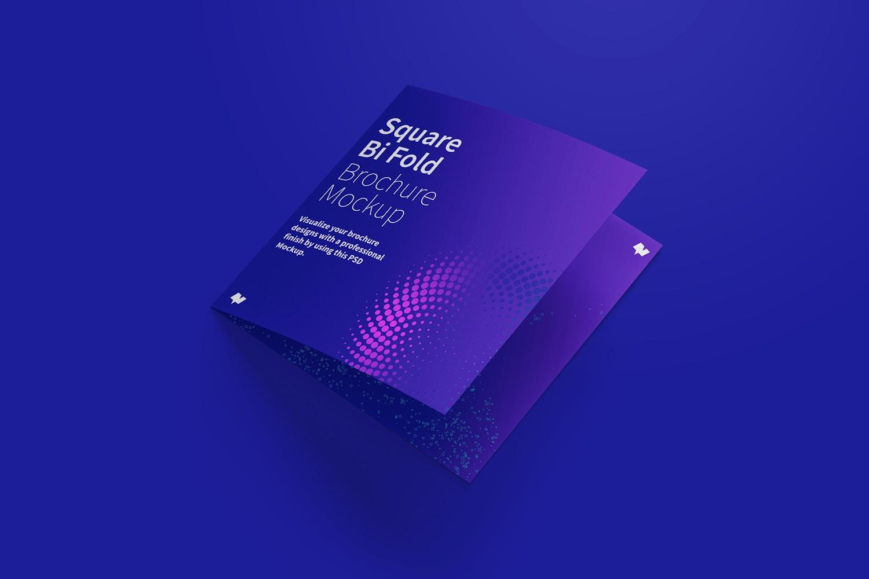 Square Bi Fold Brochure Mockup 01 (6) by Original Mockups on Original Mockups