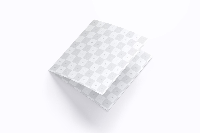 Square Bi Fold Brochure Mockup 01 (3) by Original Mockups on Original Mockups