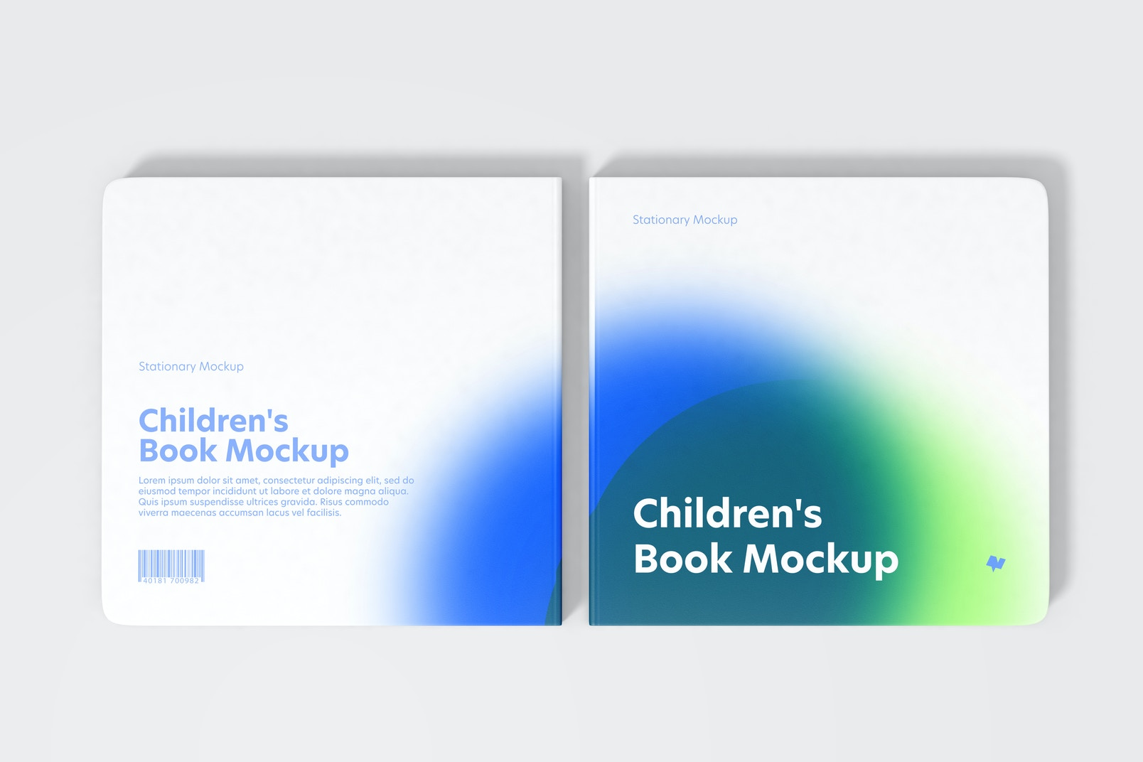 Children's Book Set Mockup