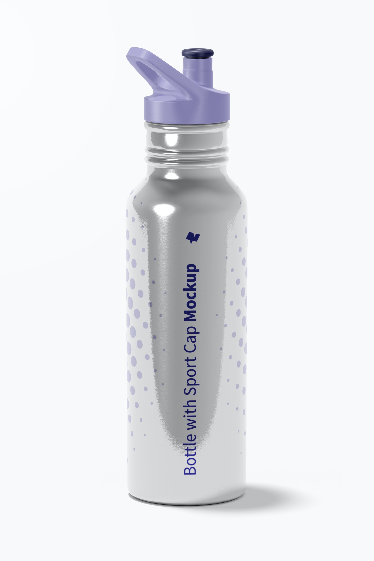 Bottle with Sport Cap Mockup, Front View