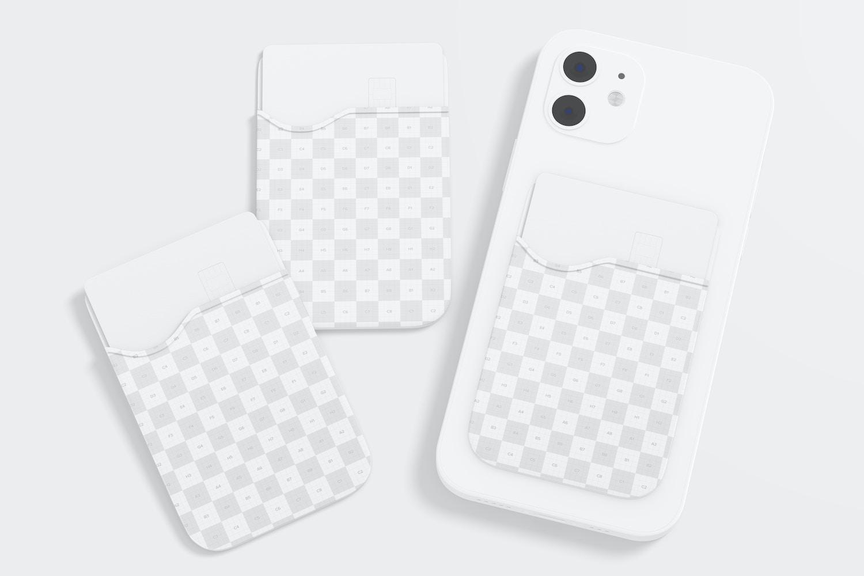 Phone Card Holders Mockup