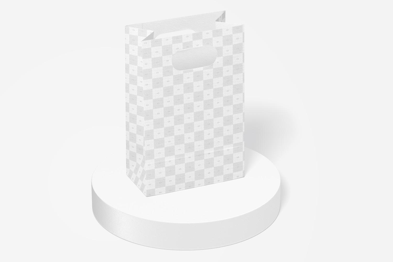 Die-Cut Small Paper Bag Mockup