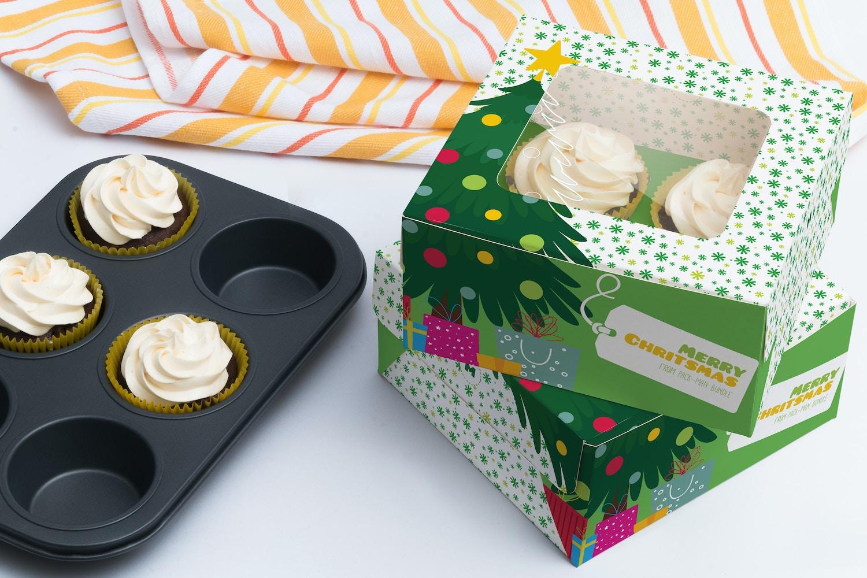 Maqueta para cuatro Cupcakes 02 por Ktyellow  en Original Mockups