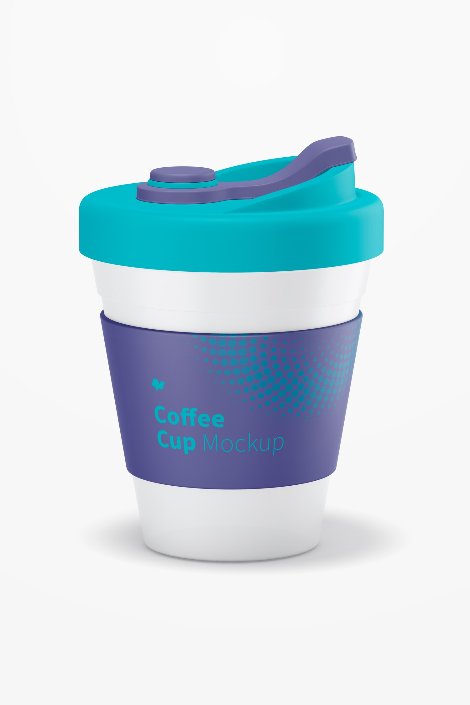 Coffee Cup with Lid Mockup
