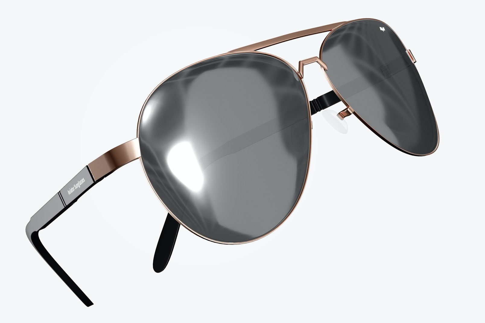 Aviator Sunglasses Mockup, Floating