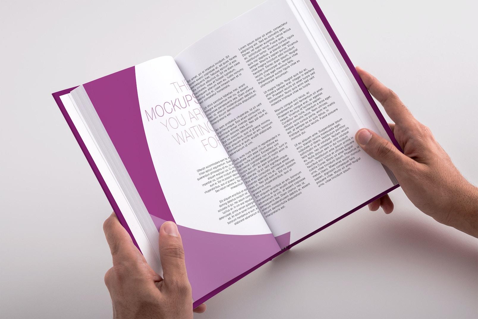 Hardcover Trade Book PSD Mockup 04