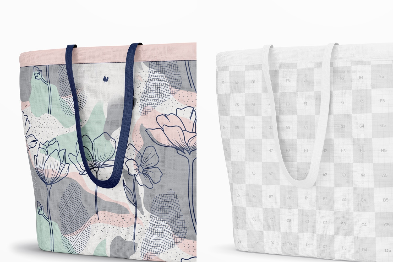 Designer Shopping Bag Mockup, Close Up