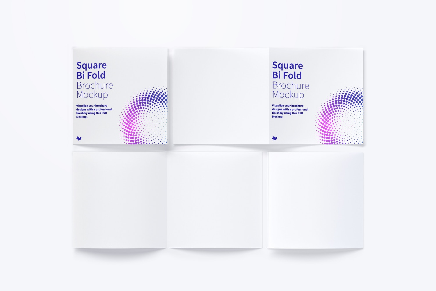 Square Bi Fold Brochure Mockup 04 by Original Mockups on Original Mockups