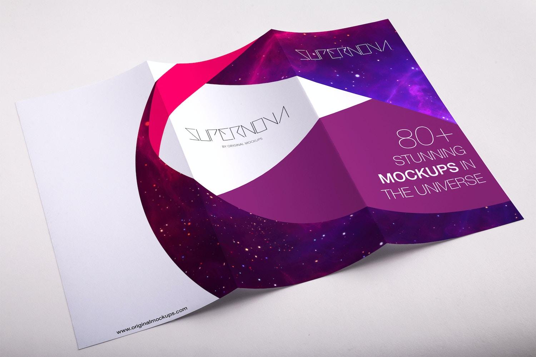 A4 Trifold Brochure PSD Mockup 01 por Original Mockups en Original Mockups