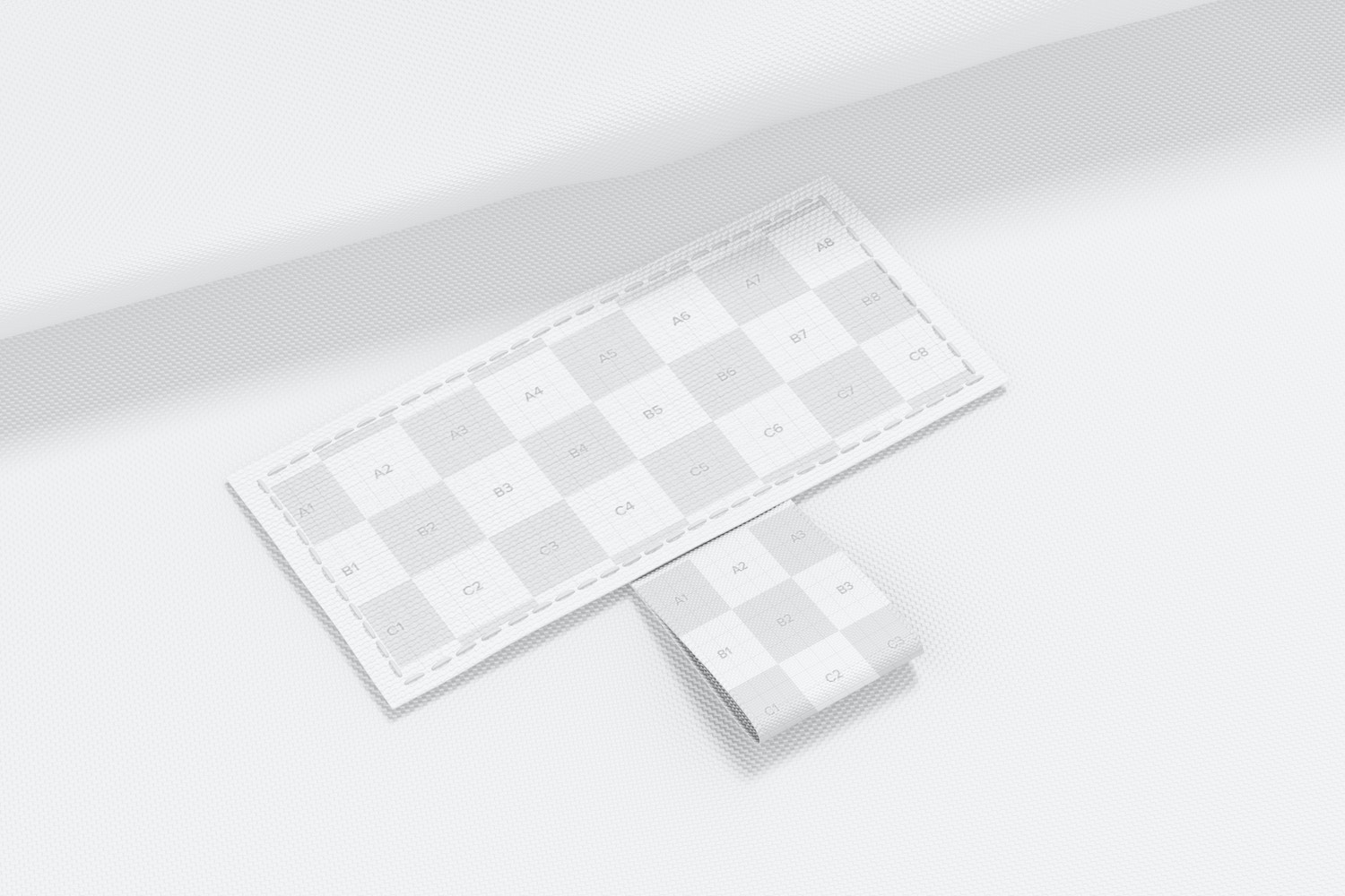 Rectangular Sewn-In Label Mockup, Perspective