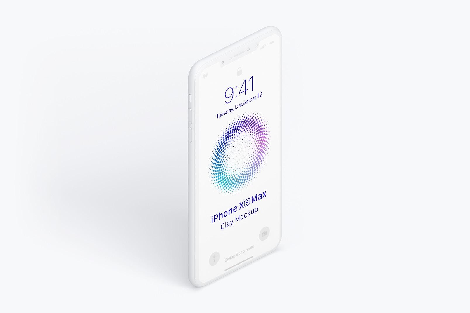 Maqueta de iPhone Xs Max, Vista Izquierda 02