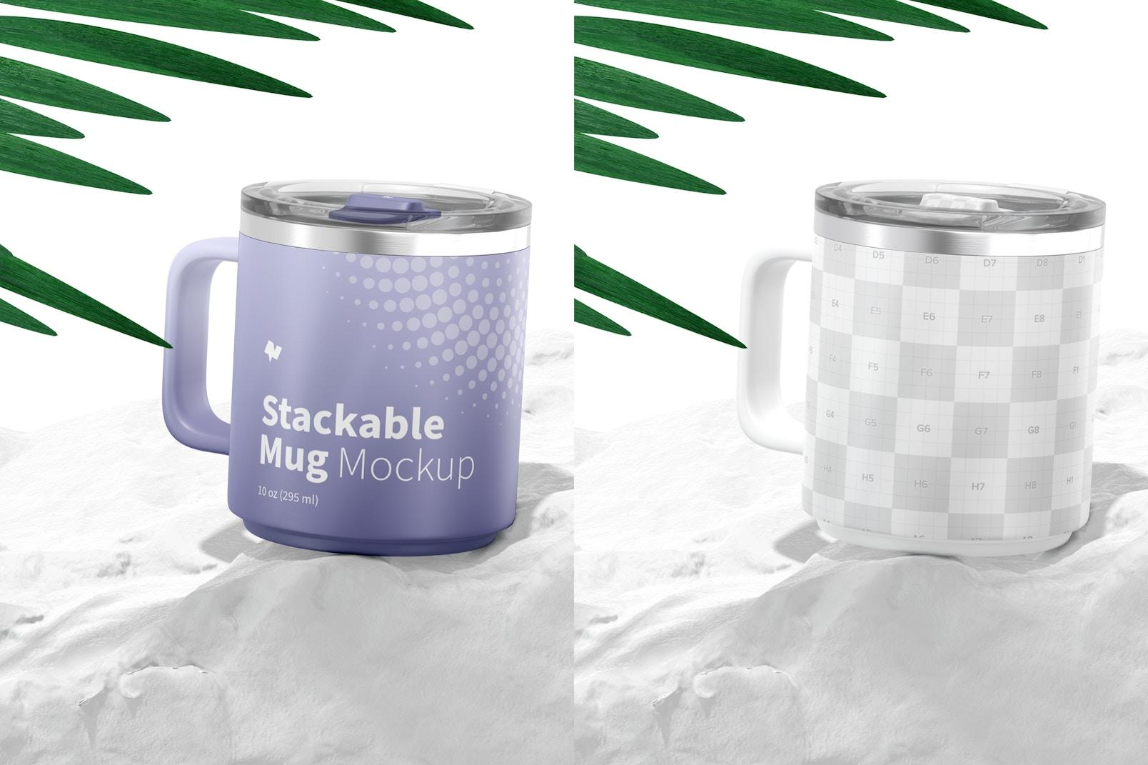 10 oz Stackable Mug Mockup, Perspective
