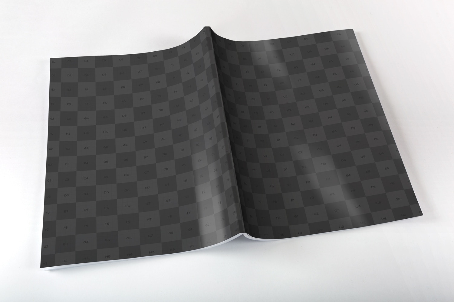 Large Magazine Full Cover Mockup - Smart Objects