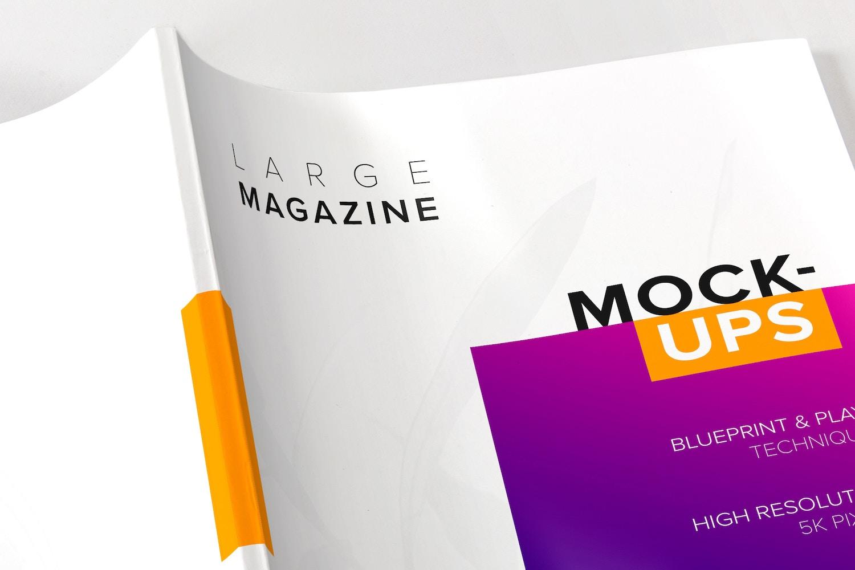 5K de resolución que le permiten crear vistas de cerca y mostrar detalles como arrugas, brillo y textura de la revista.