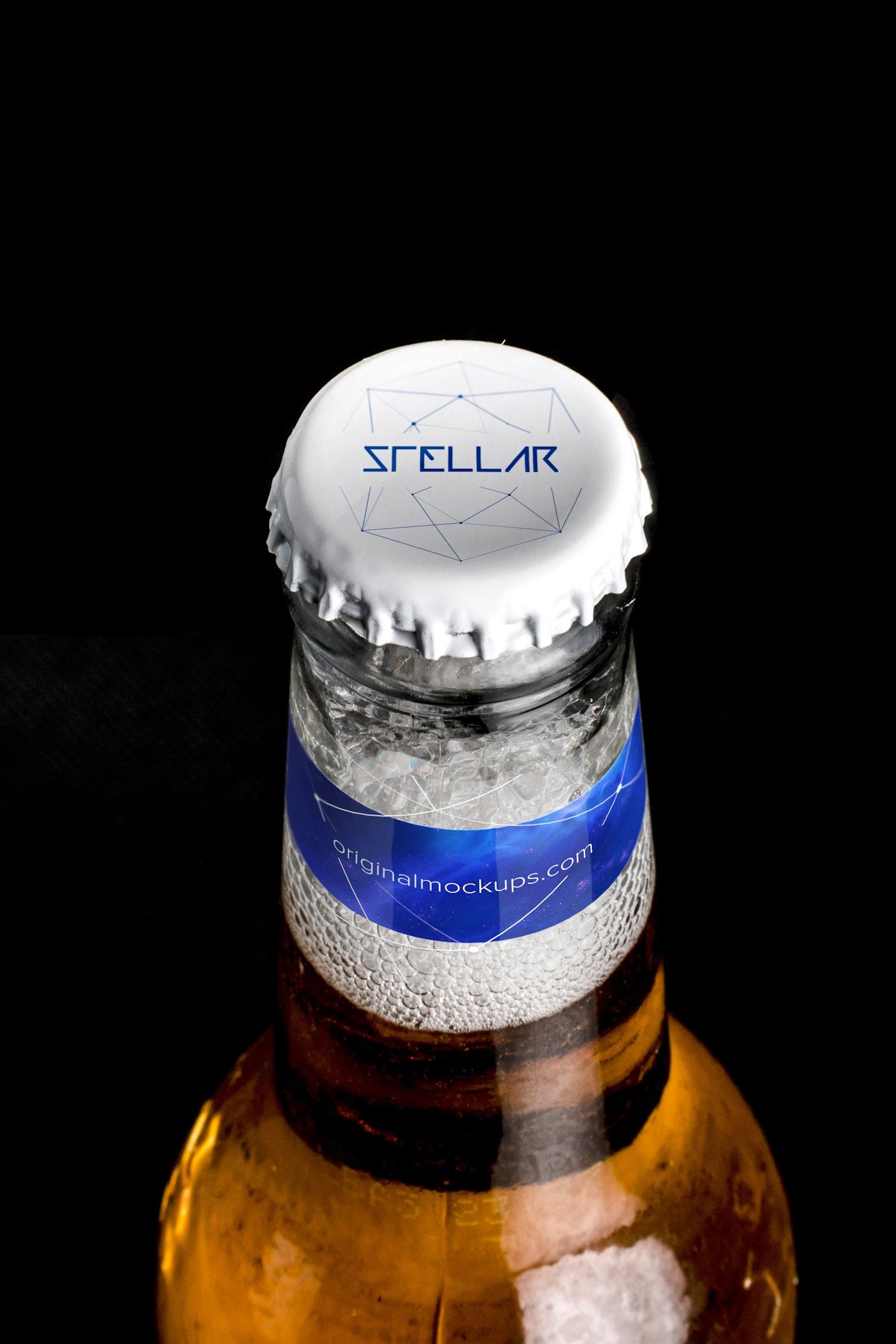 Beer Bottle Cap Mockup 01 por Original Mockups en Original Mockups