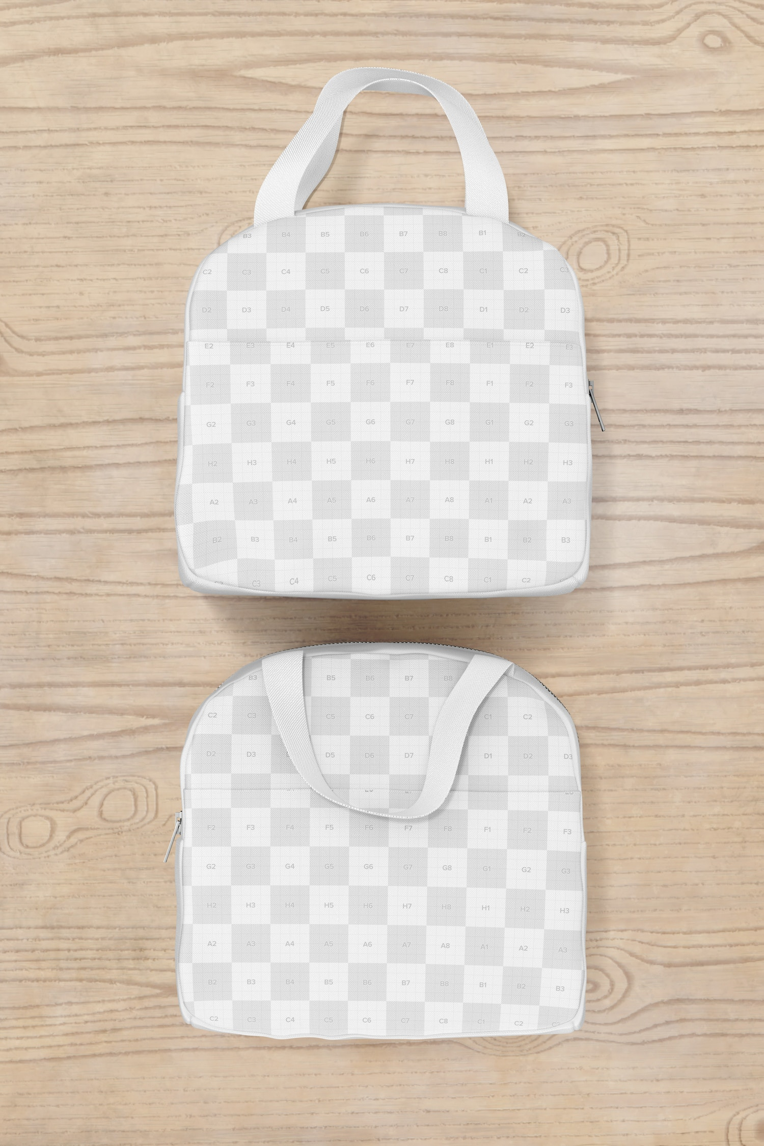 Lunch Bag with Front Pocket Mockup, Top View