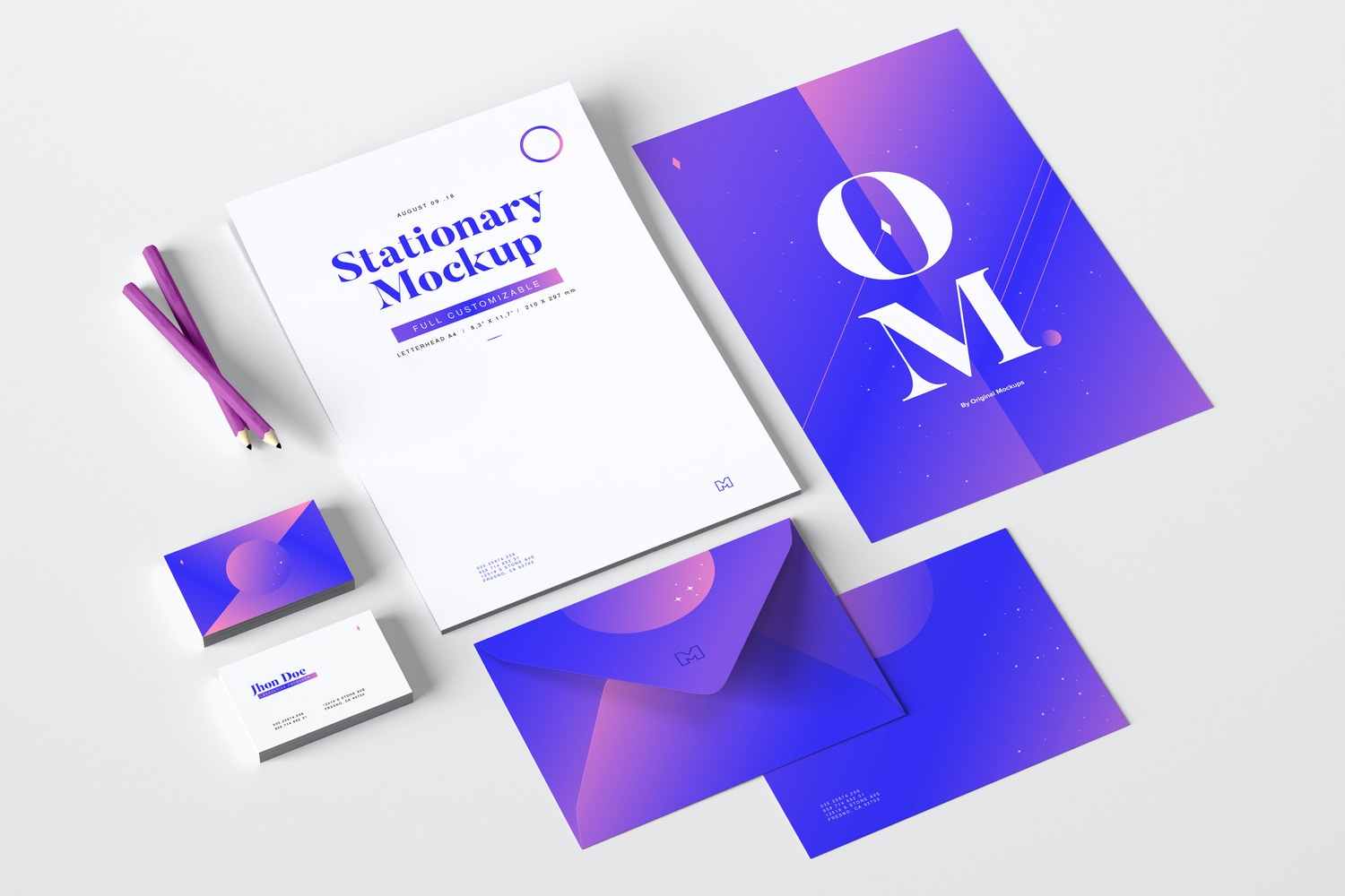 Stationery Mockup 01 by Original Mockups on Original Mockups