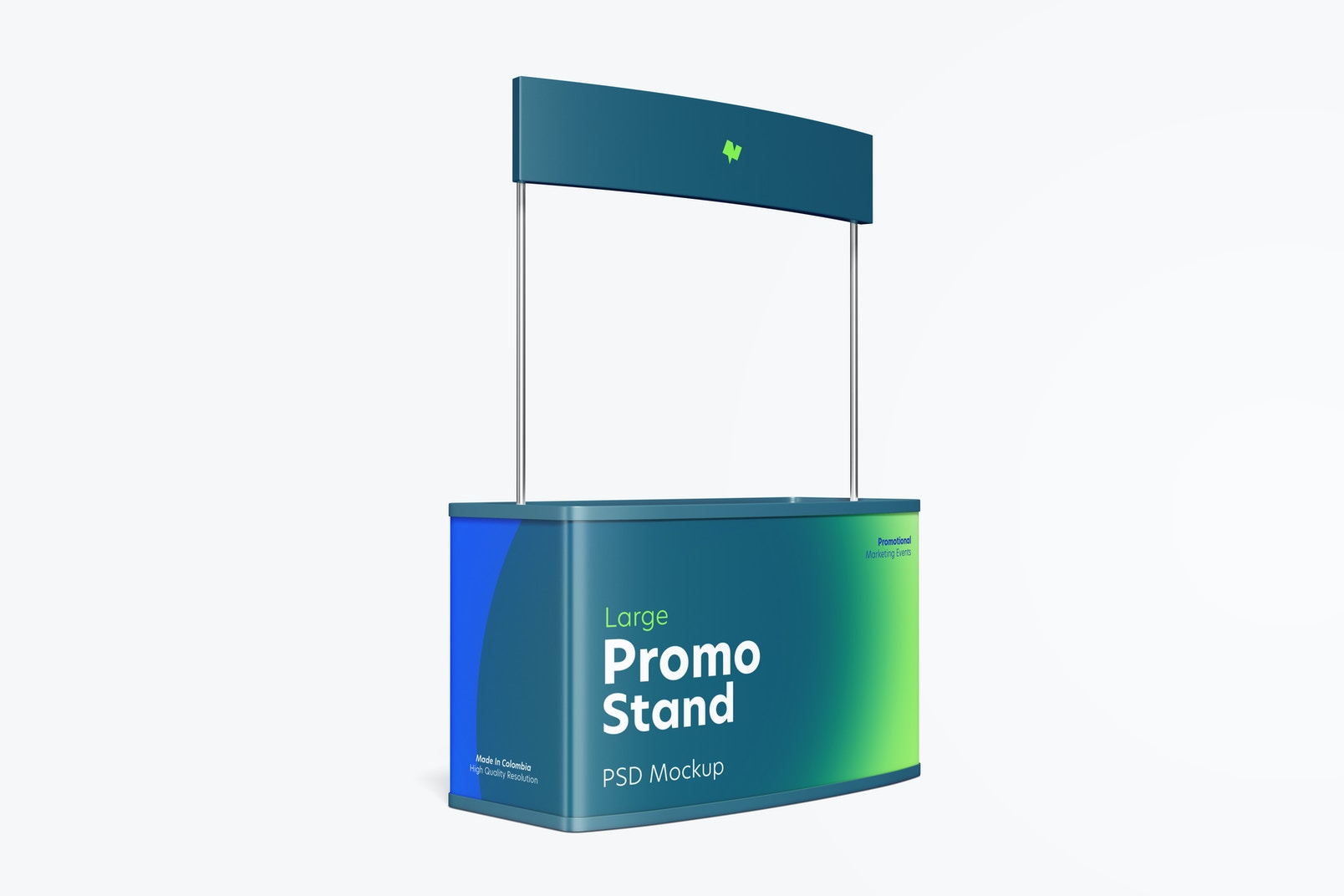Large Promo Stand Mockup, Right View