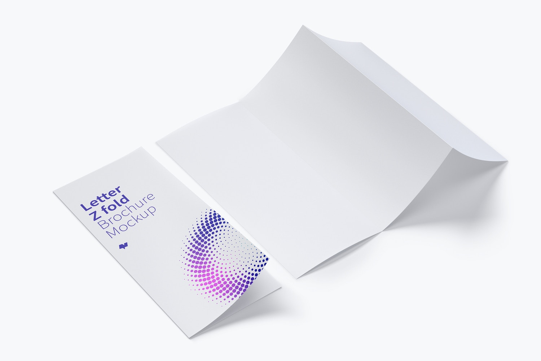Letter Z Fold Brochure Mockup 06