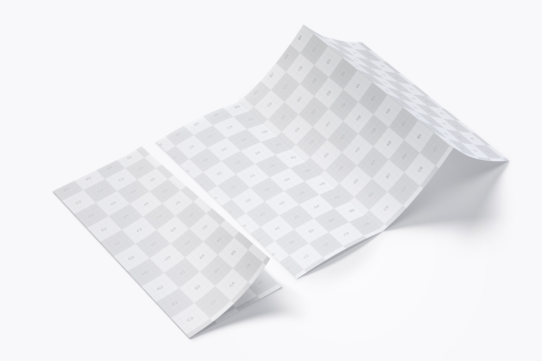 Letter Z Fold Brochure Mockup 06 (3) by Original Mockups on Original Mockups