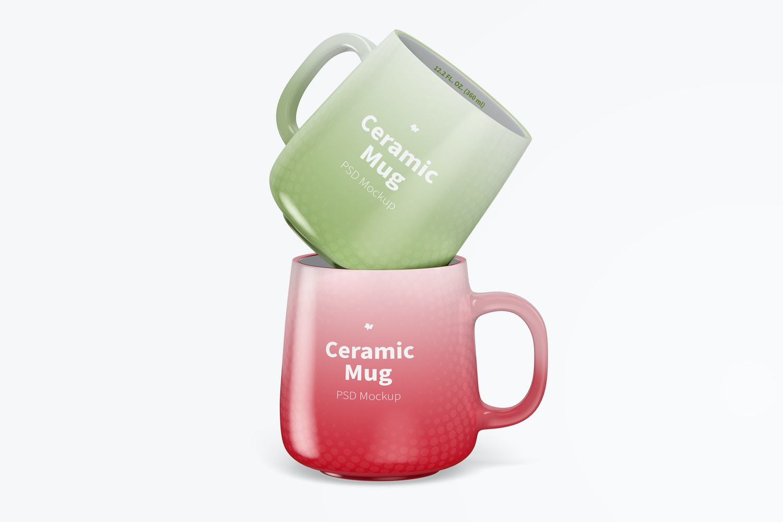 12.2 oz Ceramic Mugs Mockup