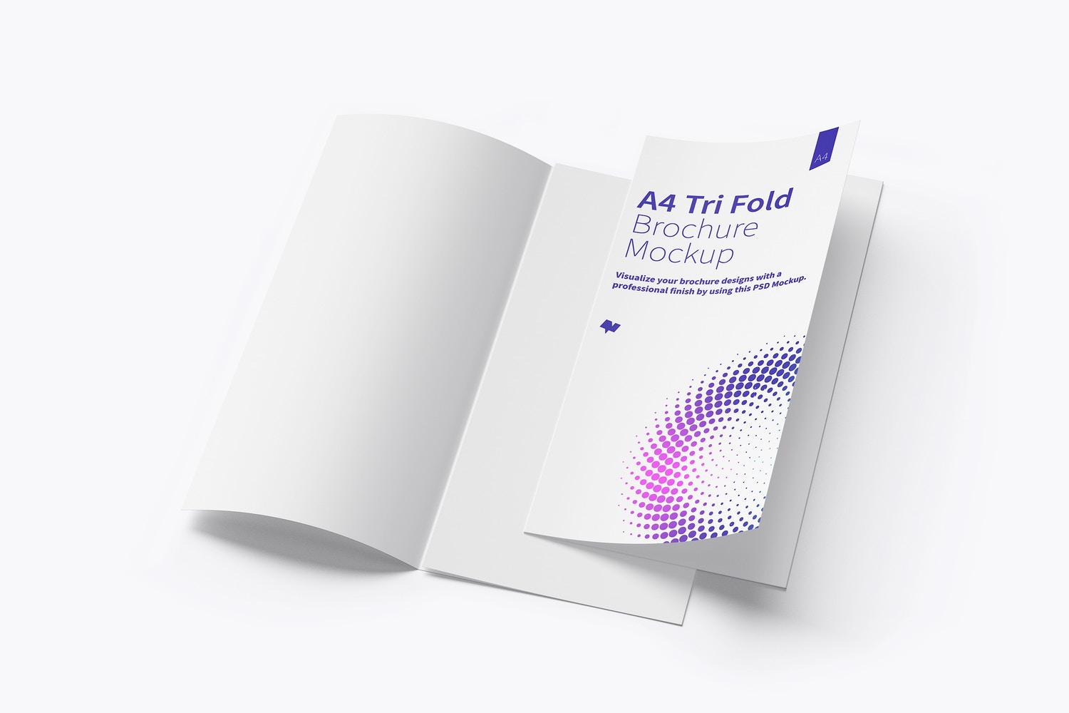 A4 Trifold Brochure Mockup 06 by Original Mockups on Original Mockups