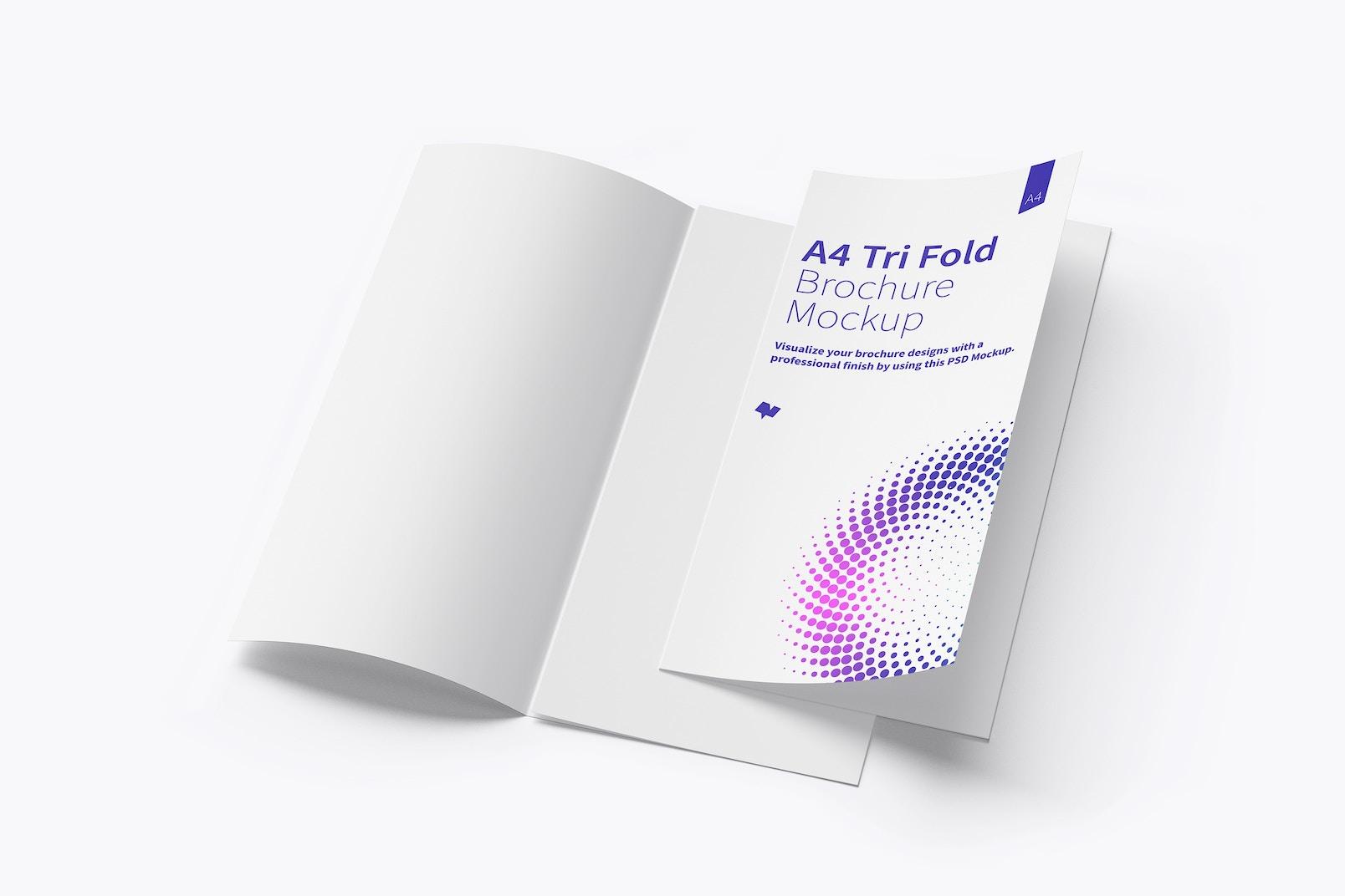 A4 Trifold Brochure Mockup 06