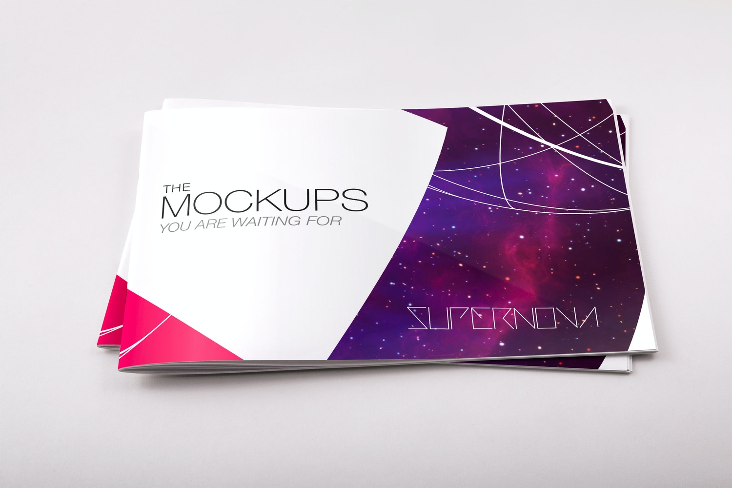 Softcover Landscape Catalog PSD Mockup 03 by Original Mockups on Original Mockups