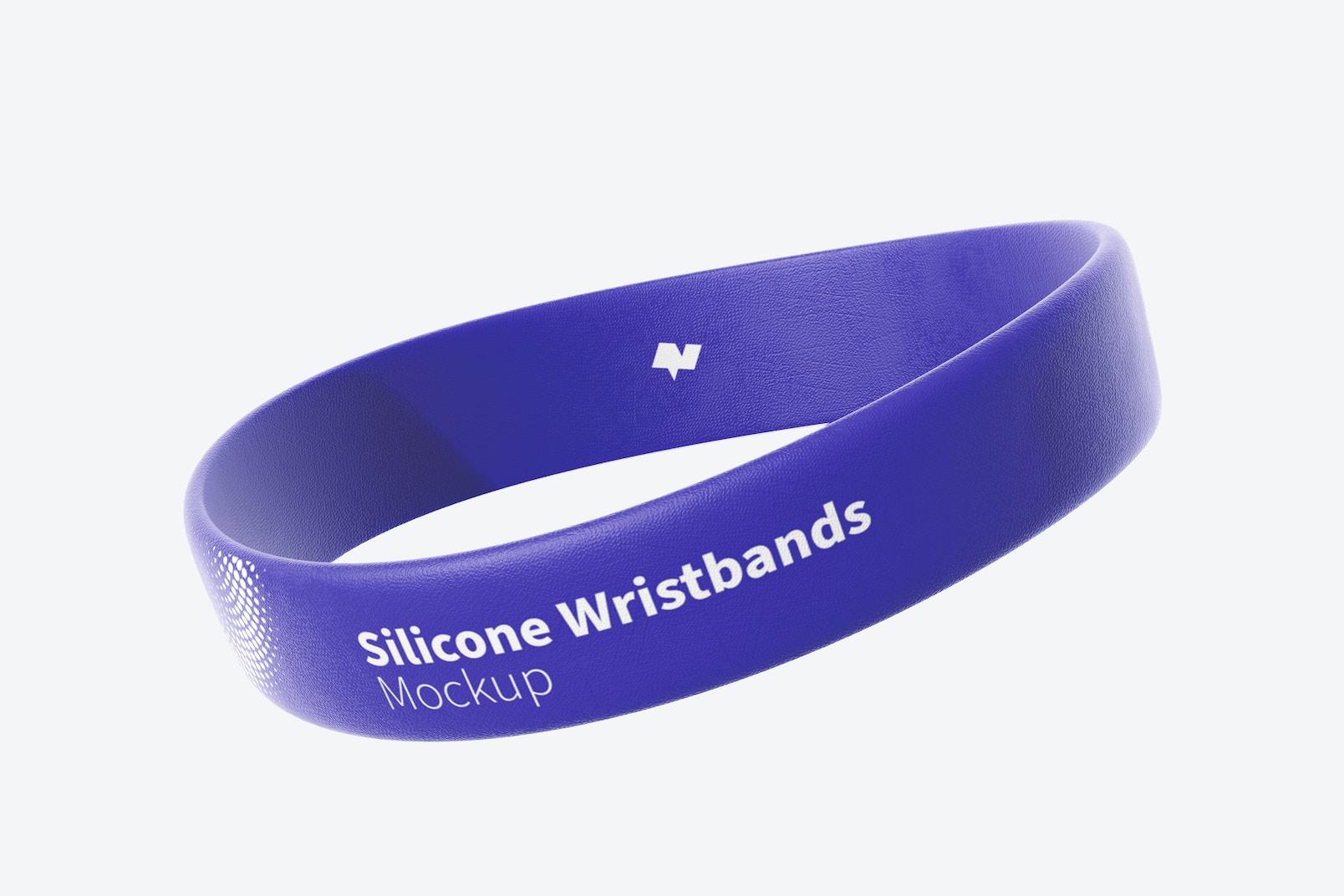 Silicone Wristband Mockup, Single Floating