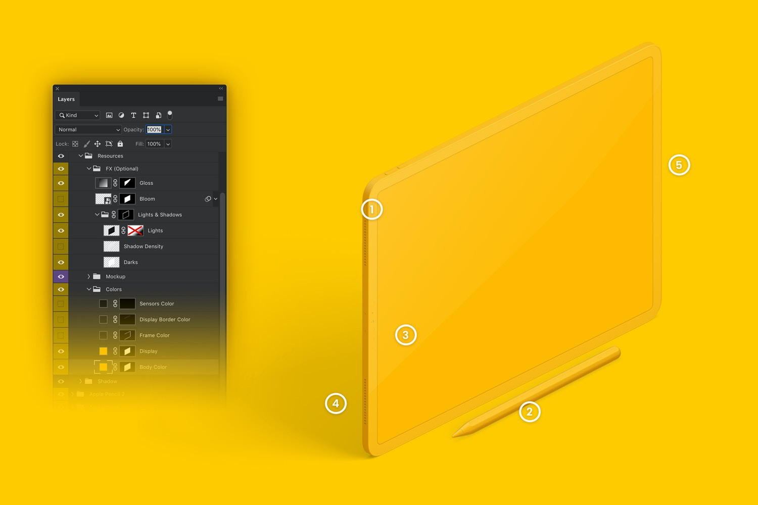 Clay iPad Pro 12.9 Mockup, Isometric Right View 03 (6) by Original Mockups on Original Mockups
