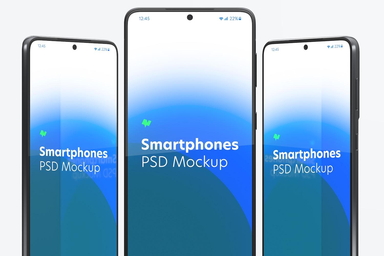 Samsung S21 Set Mockup, Close Up