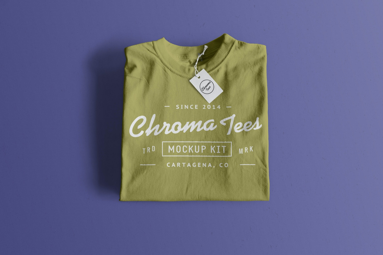 Folded T-Shirt Mockup 01
