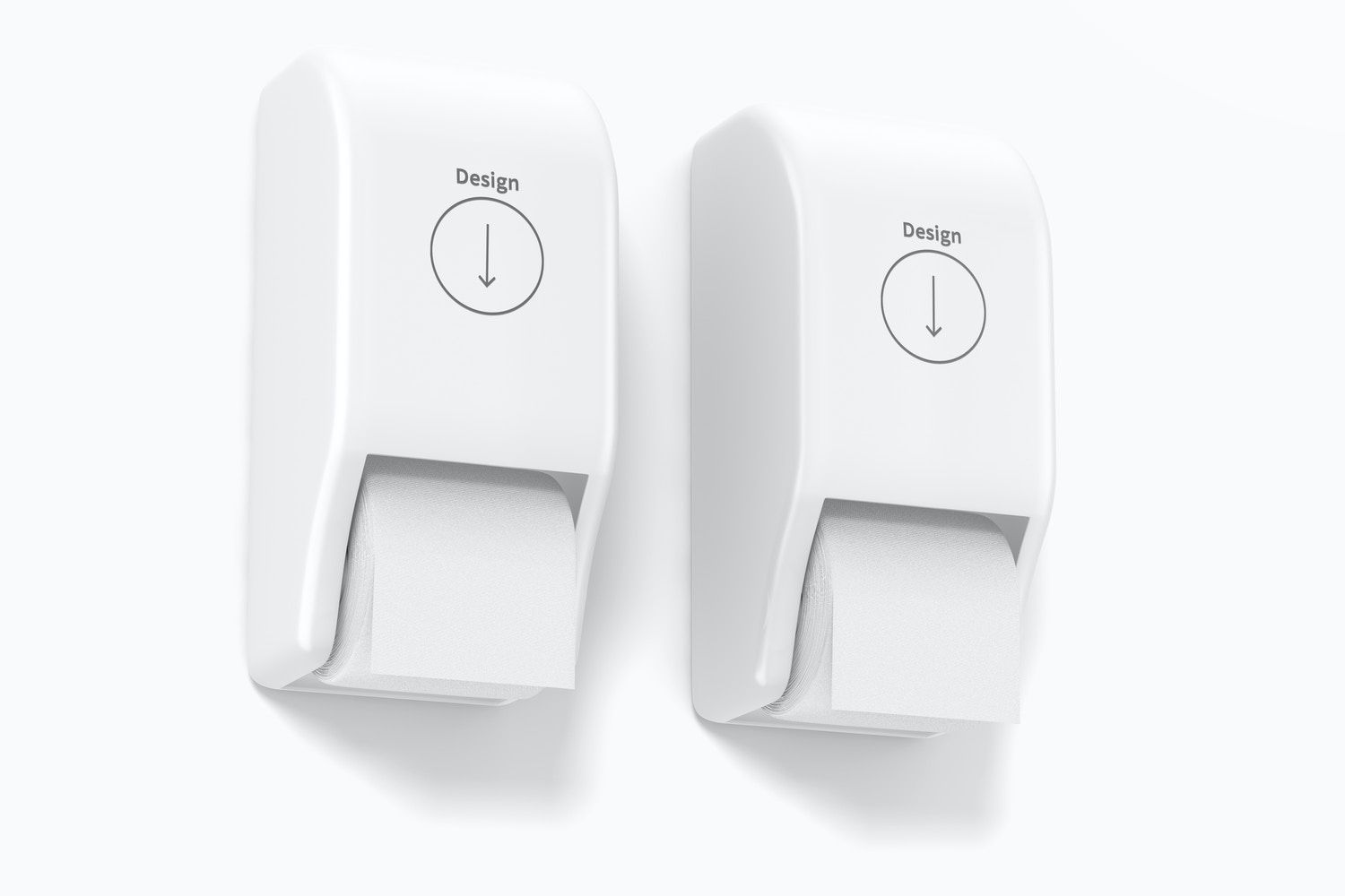Toilet Paper Holders Mockup, Perspective View