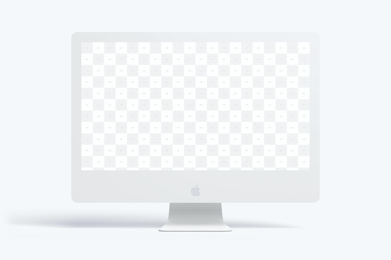 "Clay iMac 27"" Mockup, Front View (2) by Original Mockups on Original Mockups"