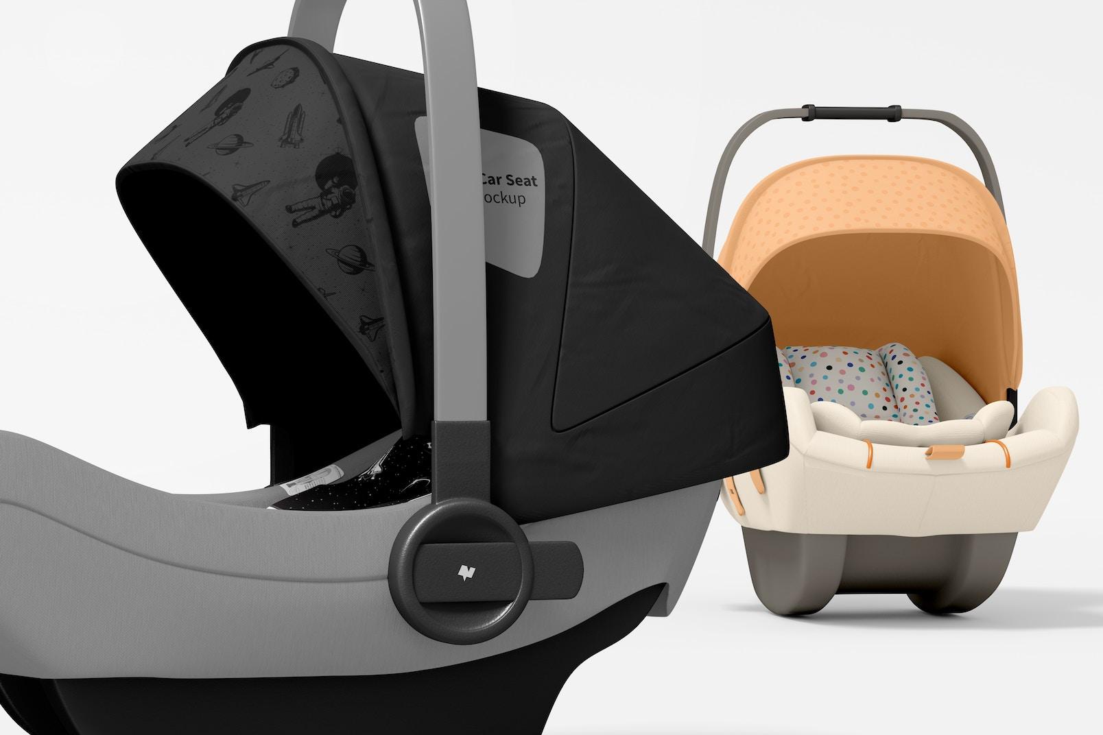 Baby Car Seats Mockup, Close-up