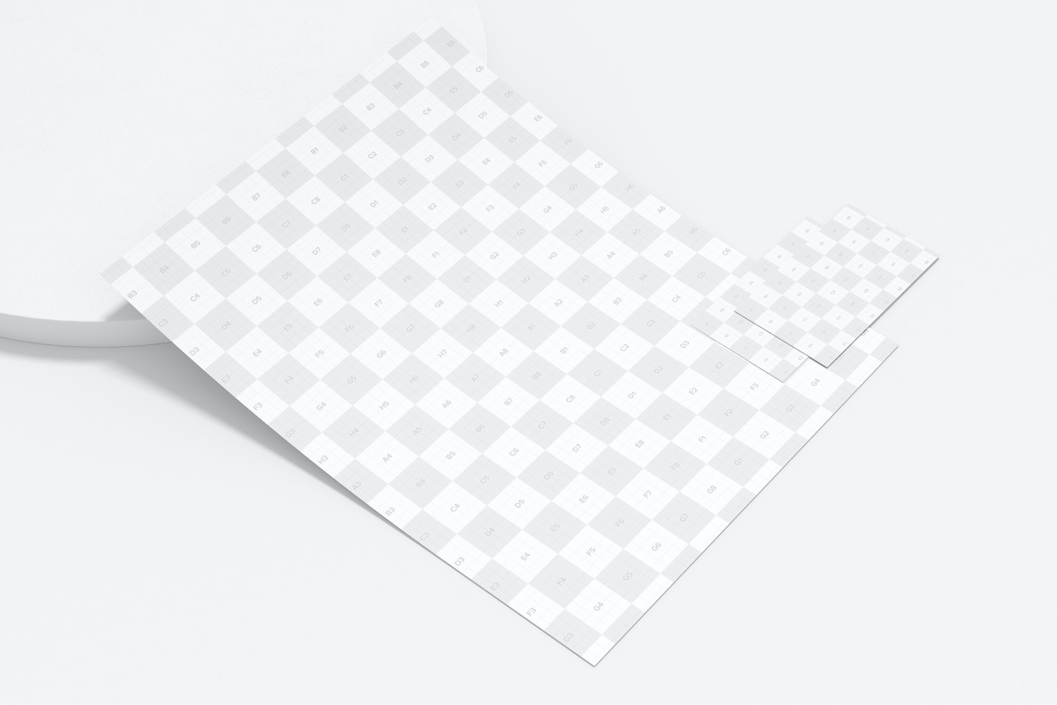 Letterhead with Business Card Mockup, Left View