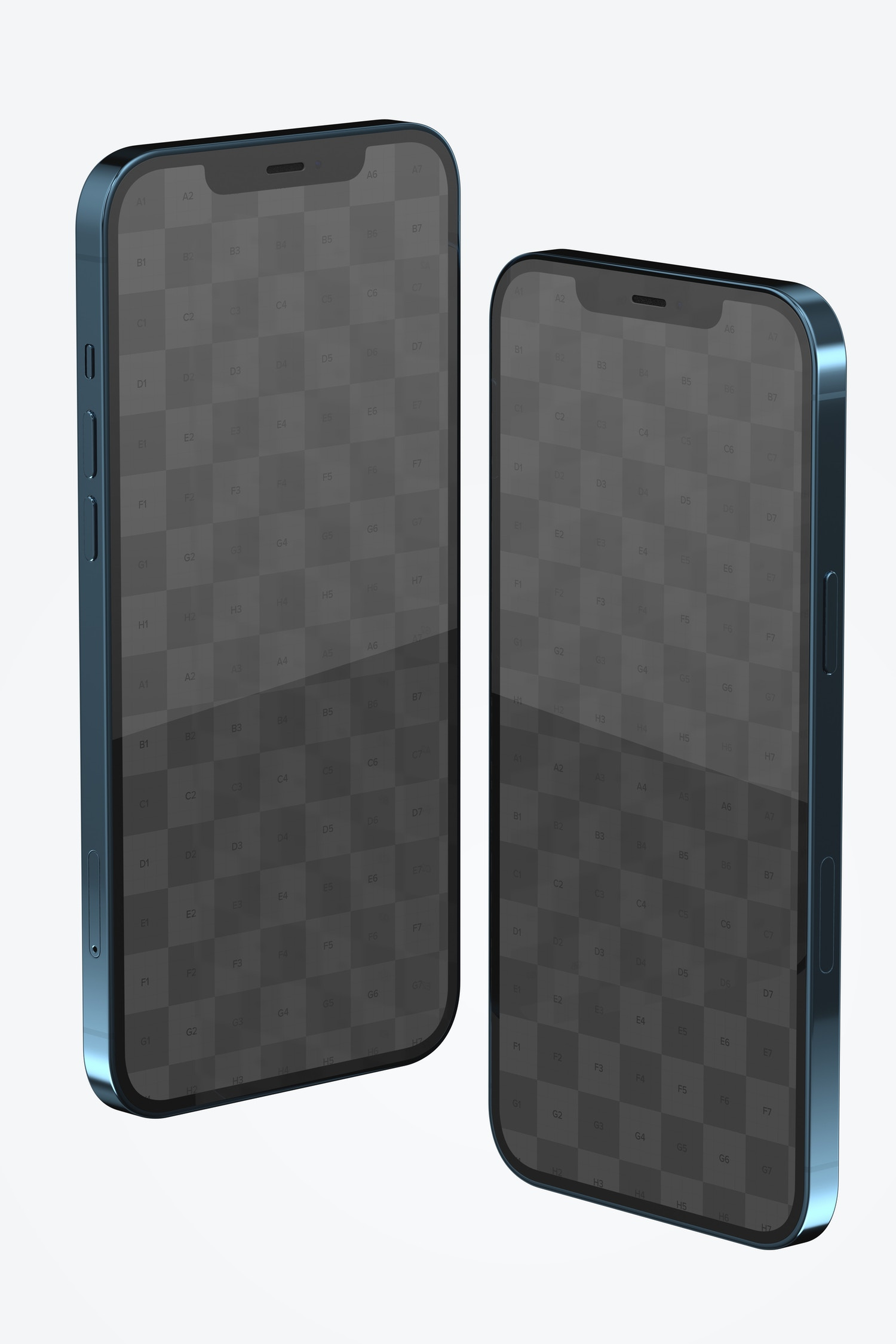 iPhone 12 Mockup, Right and Left Side View