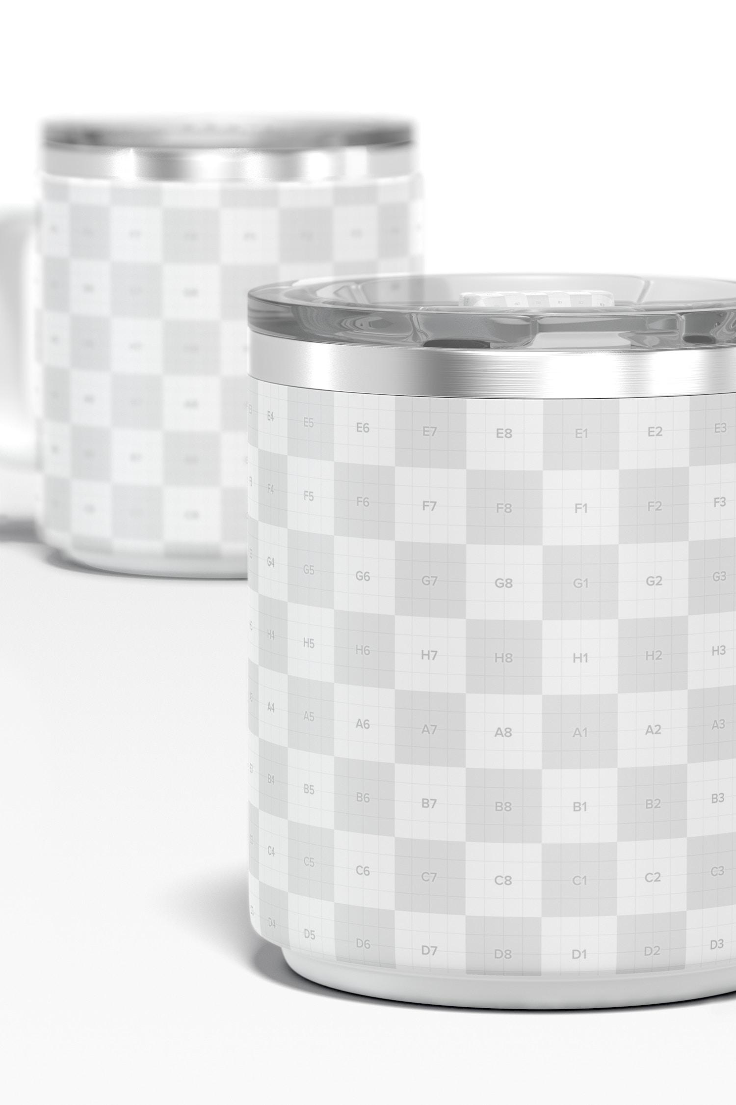 10 oz Stackable Mug Mockup, Close Up