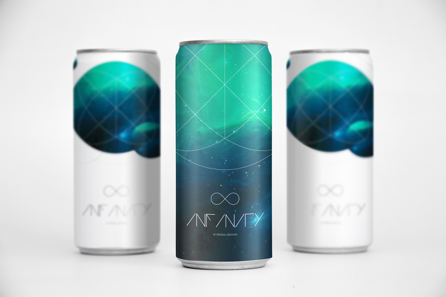 Sleek Cans Mockup 2 by Original Mockups on Original Mockups